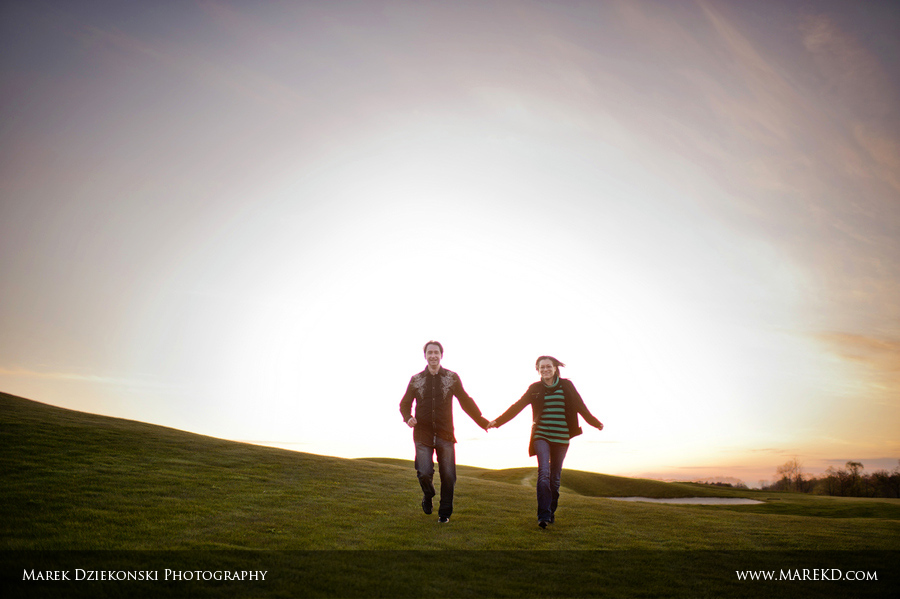 Liz Lewis engagement session sunrise Oakhurst golf club Clarkston Michigan2 Liz and Lewis Engagement Session at Sunrise in Oakhurst Golf and Country Club | Clarkston, MI