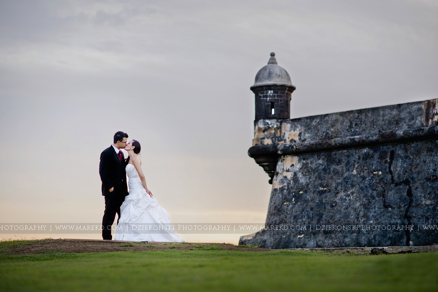 Armina And Erick Are Married Destination Wedding Rock The Dress In Old San Juan Puerto Rico