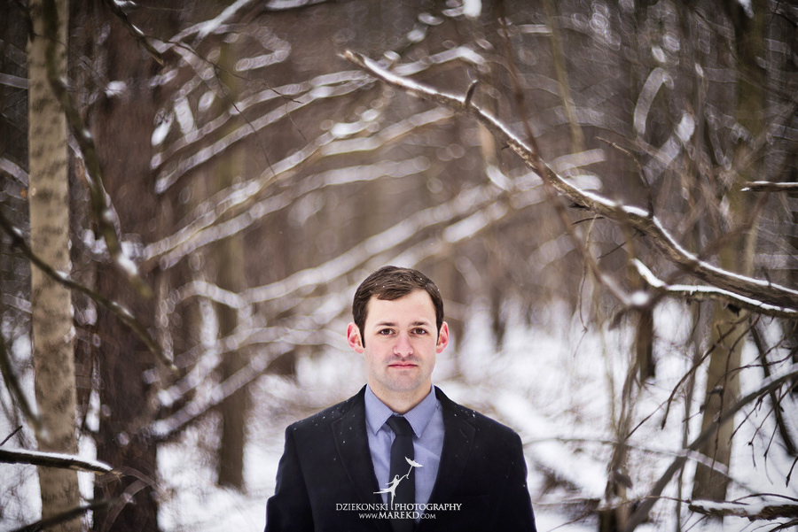 Alina levi winter engagement session clarkston mi park woods snow black classy gown photography12 Alina and Levis Winter Engagement Session in Clarkston, MI
