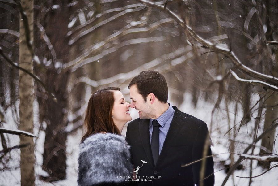 Alina levi winter engagement session clarkston mi park woods snow black classy gown photography13 Alina and Levis Winter Engagement Session in Clarkston, MI