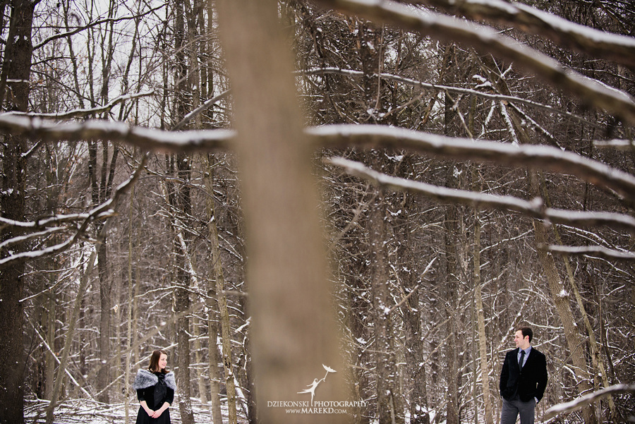 Alina levi winter engagement session clarkston mi park woods snow black classy gown photography18 Alina and Levis Winter Engagement Session in Clarkston, MI