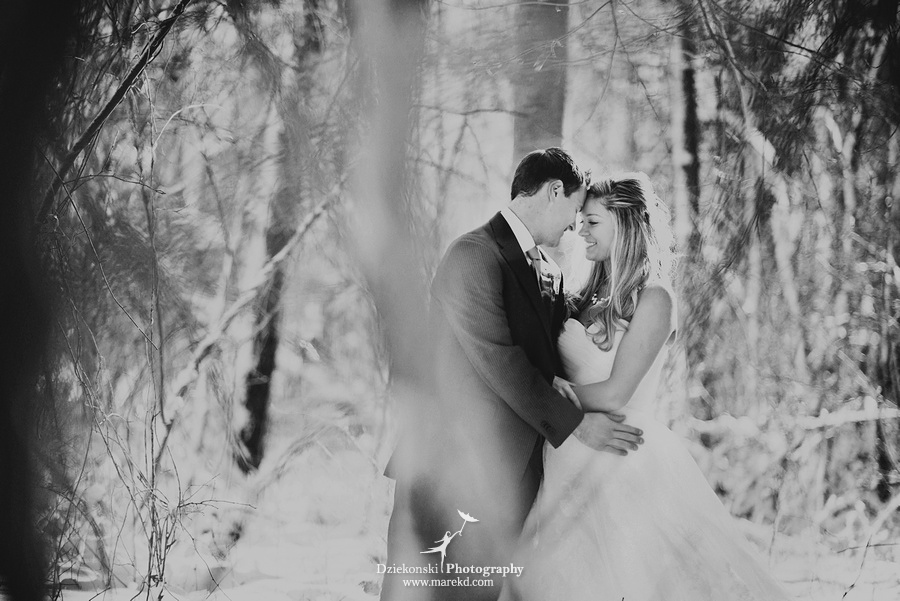 winter wedding red rock the dress clarkston forest snow cold photoshoot photography marek02 Lindsey and Nicks Winter Rock the Dress in a Snowy Forest | Clarkston MI