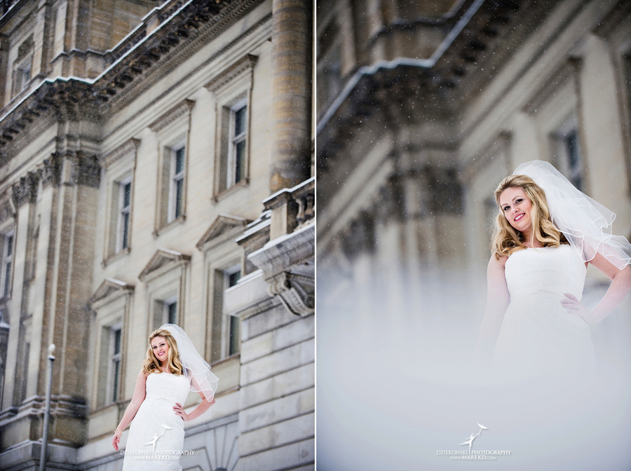 Taryn Nick colony club detroit downtown wedding photographer michigan winter snow townhall renaissance center GM central depot22 Taryn and Nicks Snowy Winter Wedding at Colony Club in Downtown Detroit, MI