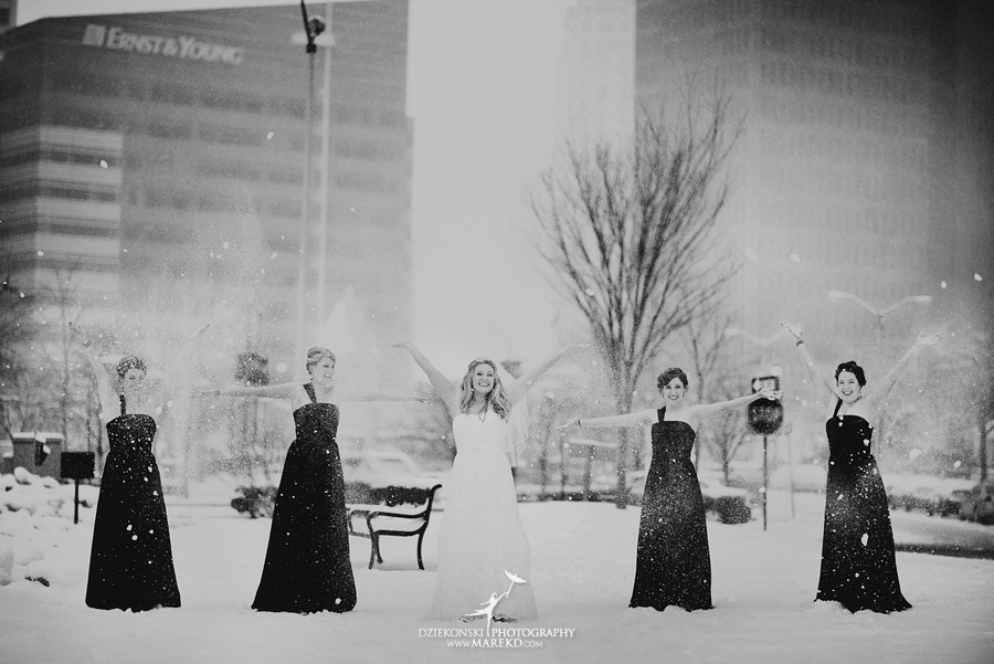 Taryn Nick colony club detroit downtown wedding photographer michigan winter snow townhall renaissance center GM central depot25 Taryn and Nicks Snowy Winter Wedding at Colony Club in Downtown Detroit, MI