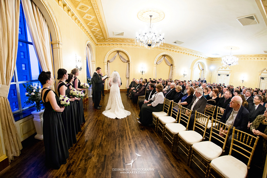 Taryn Nick colony club detroit downtown wedding photographer michigan winter snow townhall renaissance center GM central depot34 Taryn and Nicks Snowy Winter Wedding at Colony Club in Downtown Detroit, MI