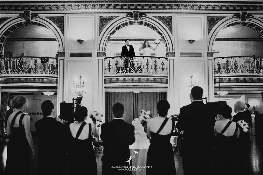 Taryn Nick colony club detroit downtown wedding photographer michigan winter snow townhall renaissance center GM central depot40 Taryn and Nicks Snowy Winter Wedding at Colony Club in Downtown Detroit, MI