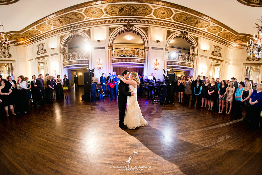 Taryn Nick colony club detroit downtown wedding photographer michigan winter snow townhall renaissance center GM central depot55 Taryn and Nicks Snowy Winter Wedding at Colony Club in Downtown Detroit, MI