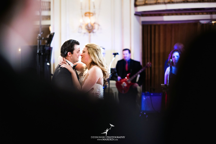 Taryn Nick colony club detroit downtown wedding photographer michigan winter snow townhall renaissance center GM central depot56 Taryn and Nicks Snowy Winter Wedding at Colony Club in Downtown Detroit, MI