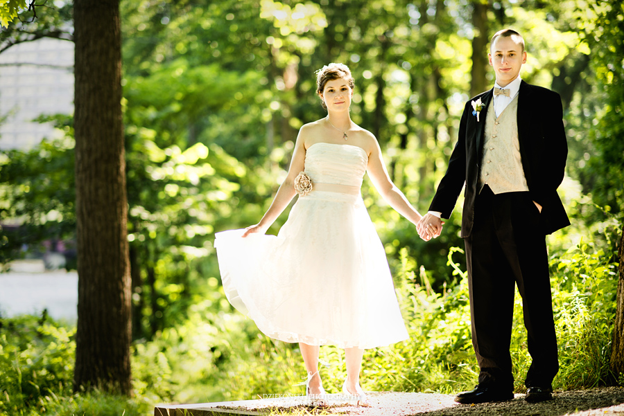 Allie Chris First Look ann arbor nichols arboretum wedding michigan photographer08 - Allie and Chris are Married! First Look at Nichols Arboretum, MI