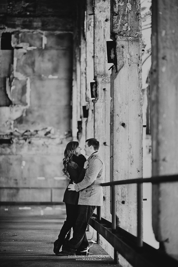 colleen ian detroit mighigan filmore theater parking central depot train station photographer wedding engagement pictures09 - Colleen and Ian
