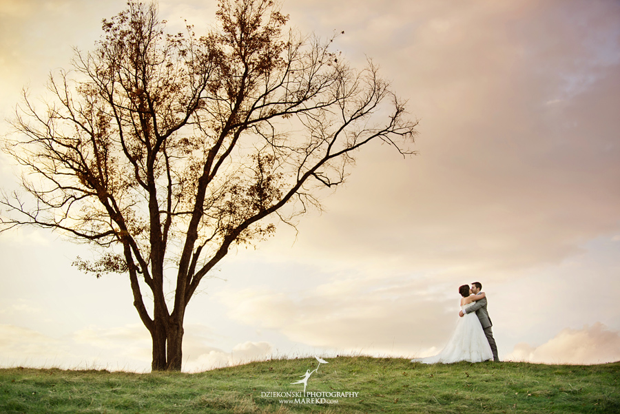 indianwood gold and country club lake orion wedding photography couple fall sunset ceremony michigan top best02 - Kristin and Jason