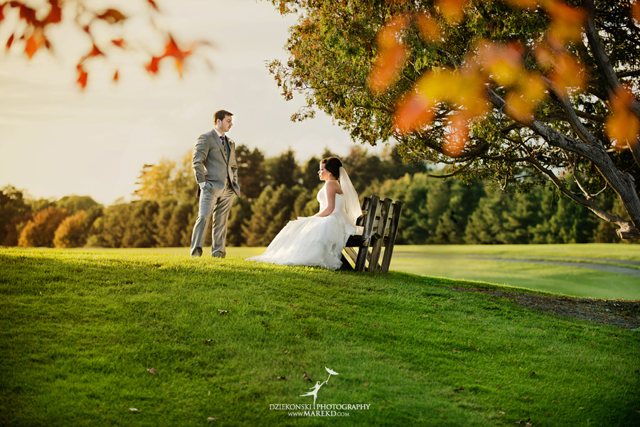 indianwood gold and country club lake orion wedding photography couple fall sunset ceremony michigan top best21 - Kristin and Jason