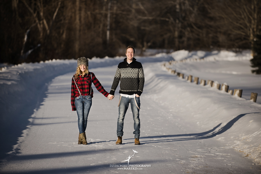 Breanna And Matt S Snowy Winter Engagement Session In