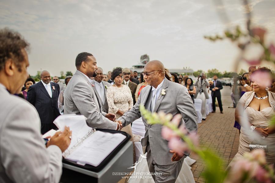 Bentrelle Dameon infinity ovation yacht wedding marina water reception ceremony detroit metro river boat15 - Bentrelle and Dameon