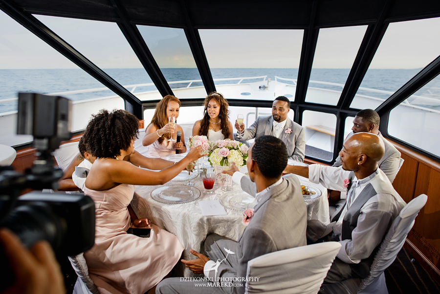 Bentrelle Dameon infinity ovation yacht wedding marina water reception ceremony detroit metro river boat27 - Bentrelle and Dameon