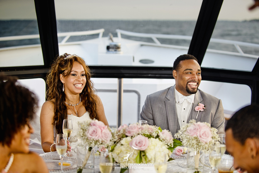 Bentrelle Dameon infinity ovation yacht wedding marina water reception ceremony detroit metro river boat28 - Bentrelle and Dameon