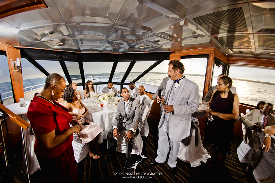 Bentrelle Dameon infinity ovation yacht wedding marina water reception ceremony detroit metro river boat29 - Bentrelle and Dameon