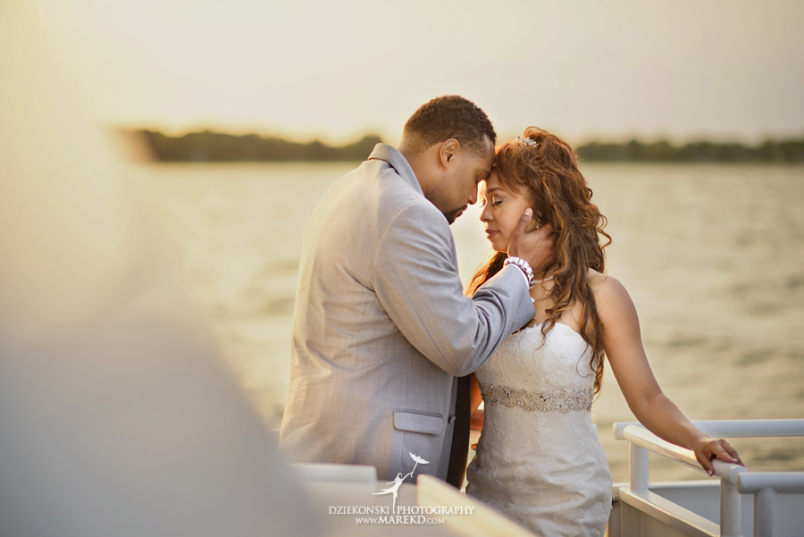 Bentrelle Dameon infinity ovation yacht wedding marina water reception ceremony detroit metro river boat31 - Bentrelle and Dameon