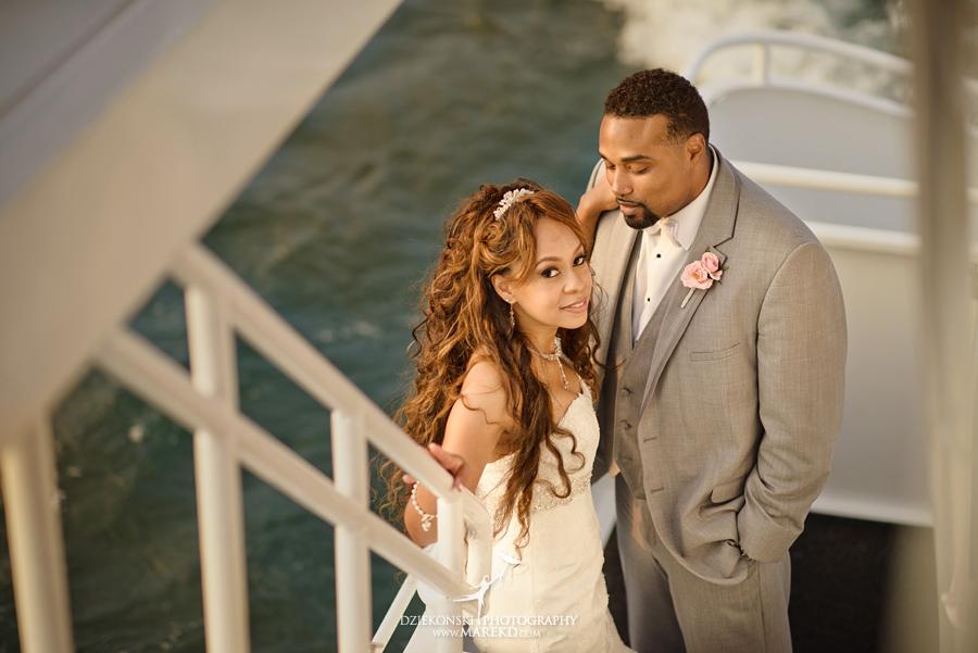 Bentrelle Dameon infinity ovation yacht wedding marina water reception ceremony detroit metro river boat34 - Bentrelle and Dameon