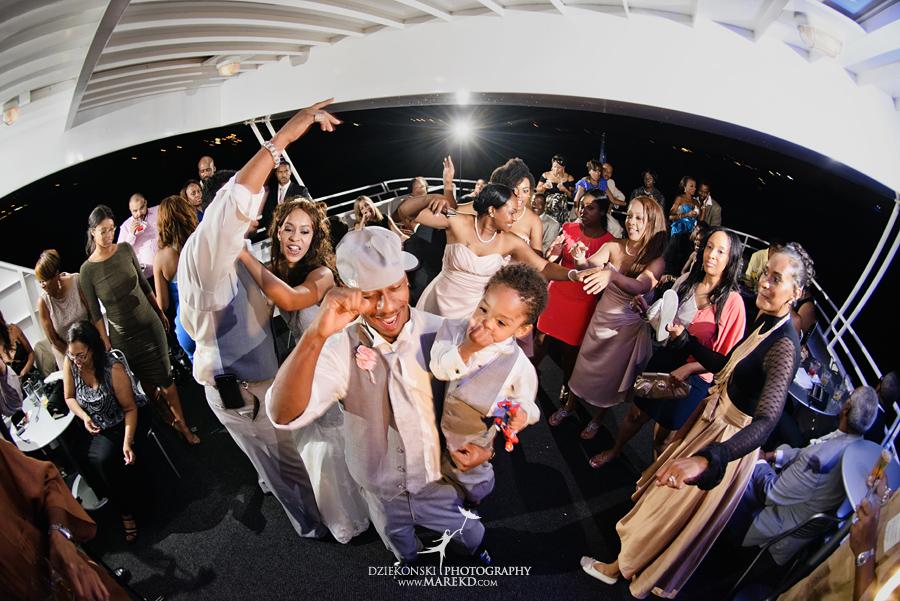 Bentrelle Dameon infinity ovation yacht wedding marina water reception ceremony detroit metro river boat43 - Bentrelle and Dameon