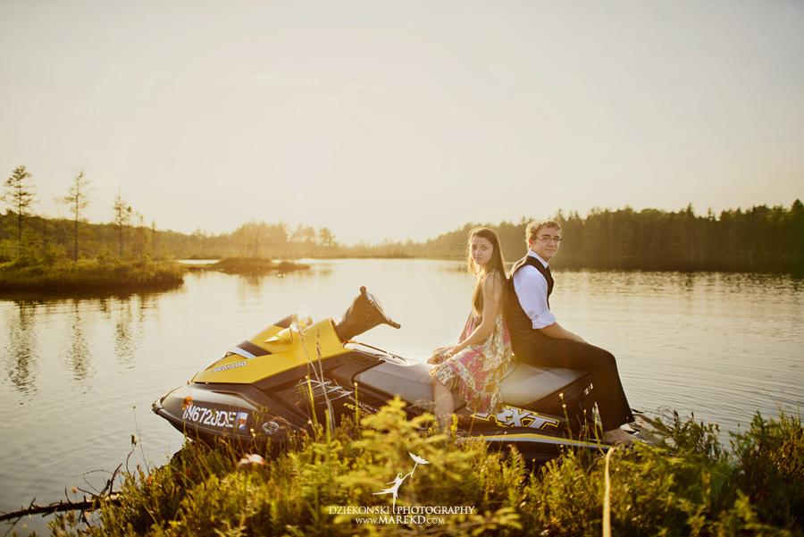 senior photographer beautiful best metro detroit clarkston up upper penisula lake jetski nature sunset01 - Rachel and Peter