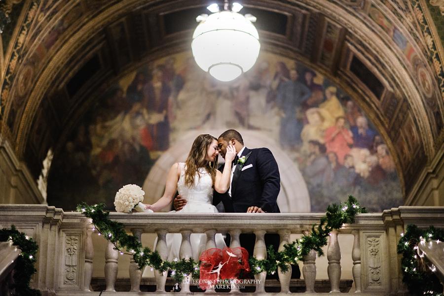 Okezie-LeeAnn-wedding-colony-club-detroit-downtown-mchigan-winter-snow-storm-blessed-sacrament-cathedral-catholic-church36