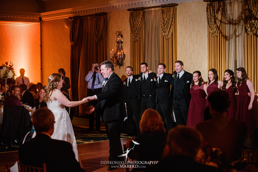 Megan Mike ceremony reception wedding pictures photographer dearborn inn michigan fall58 - Megan and Michael