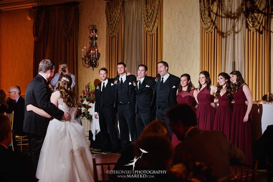 Megan Mike ceremony reception wedding pictures photographer dearborn inn michigan fall59 - Megan and Michael