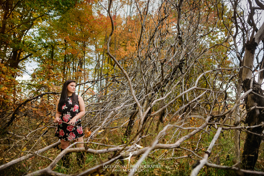 oakland county park independence oaks pictures senior photos fall leaves colors04 - Lucy Rosa