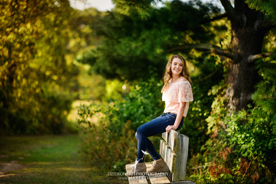 elise senior pictures clarkston michigan nature woods sunset summer photographer ideas outfit03 - Elise