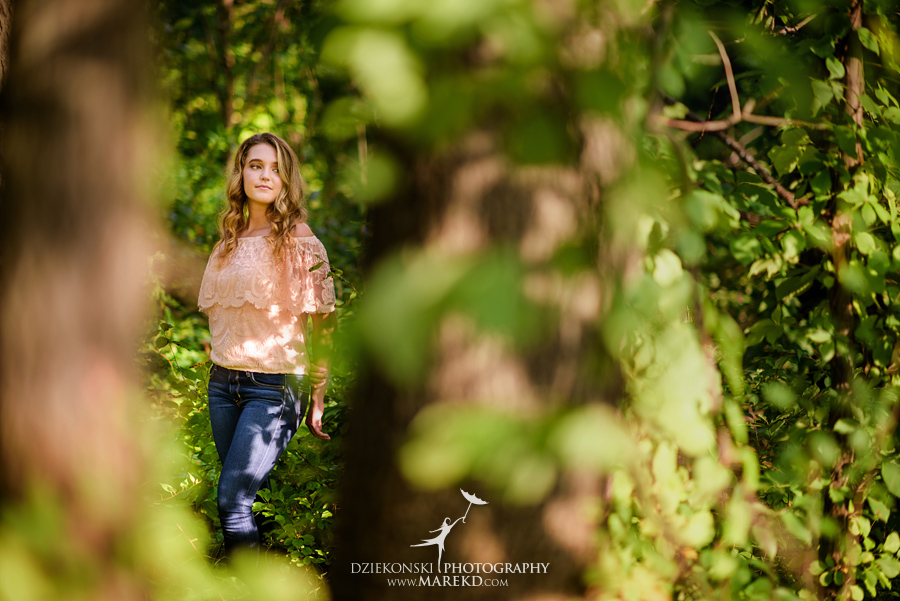 elise senior pictures clarkston michigan nature woods sunset summer photographer ideas outfit05 - Elise