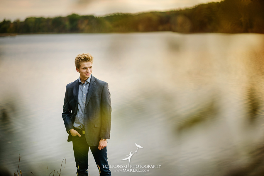 twins triplets senior photos photographer ideas everest michigan clarkston fall nature lake03 - Triplets Senior Session at Independence Oaks Park in Clarkston, Michigan - Conner, Nicholas and Ethan