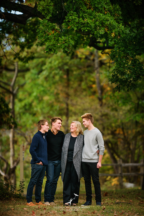 twins triplets senior photos photographer ideas everest michigan clarkston fall nature lake10 - Triplets Senior Session at Independence Oaks Park in Clarkston, Michigan - Conner, Nicholas and Ethan