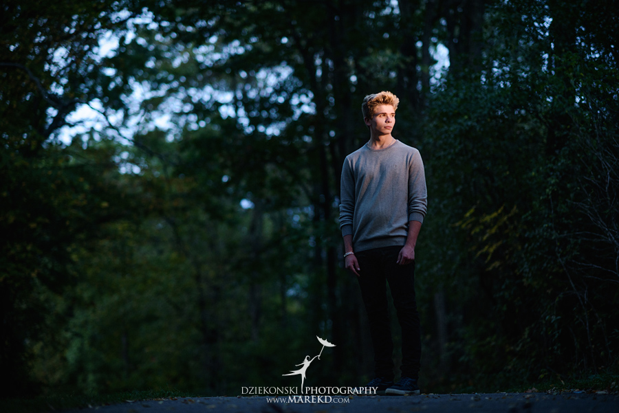 twins triplets senior photos photographer ideas everest michigan clarkston fall nature lake14 - Triplets Senior Session at Independence Oaks Park in Clarkston, Michigan - Conner, Nicholas and Ethan