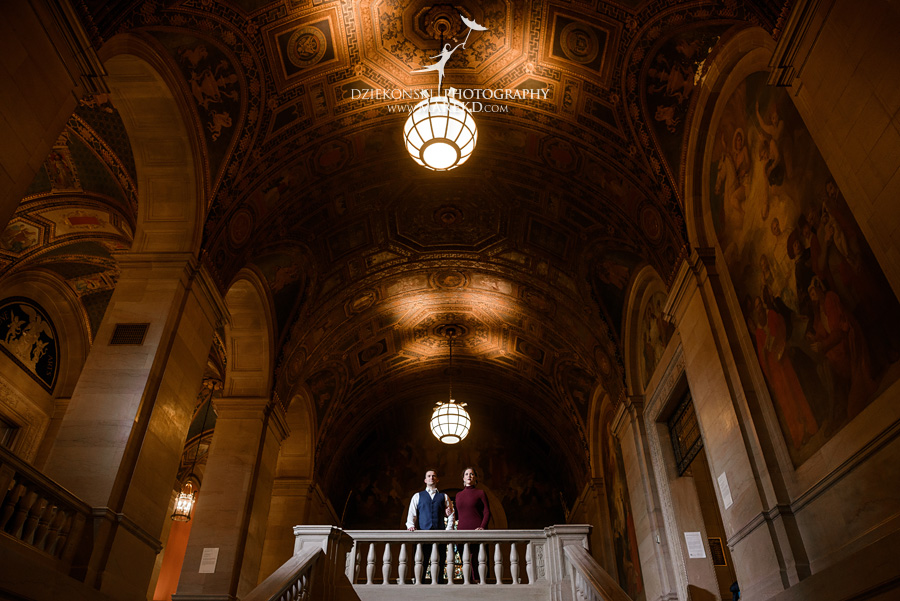 detroit public library michigan engagement session01 - Madeline and Brendan