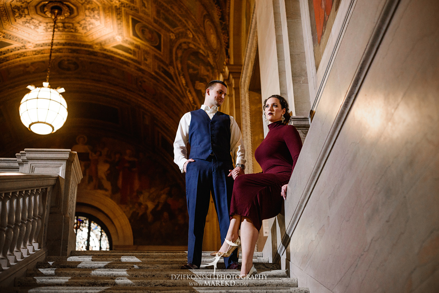 detroit public library michigan engagement session04 1 - Madeline and Brendan