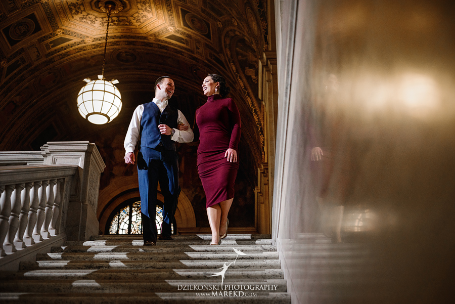 detroit public library michigan engagement session05 - Madeline and Brendan