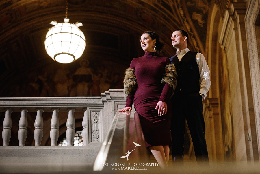 detroit public library michigan engagement session06 - Madeline and Brendan