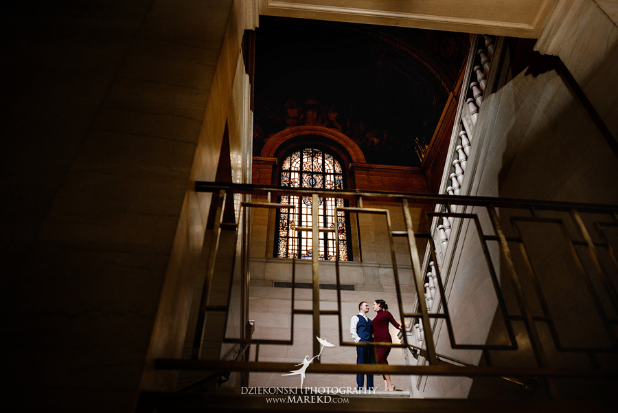 detroit public library michigan engagement session09 - Madeline and Brendan