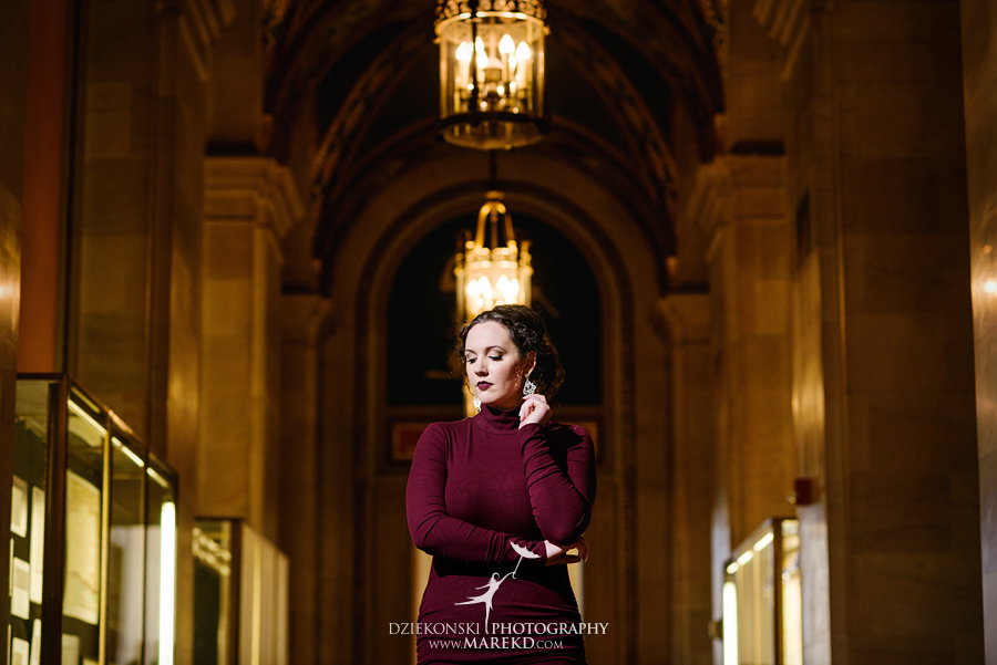 detroit public library michigan engagement session10 - Madeline and Brendan