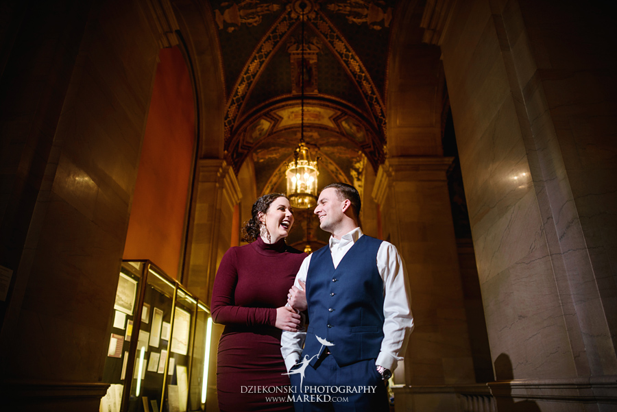 detroit public library michigan engagement session11 - Madeline and Brendan