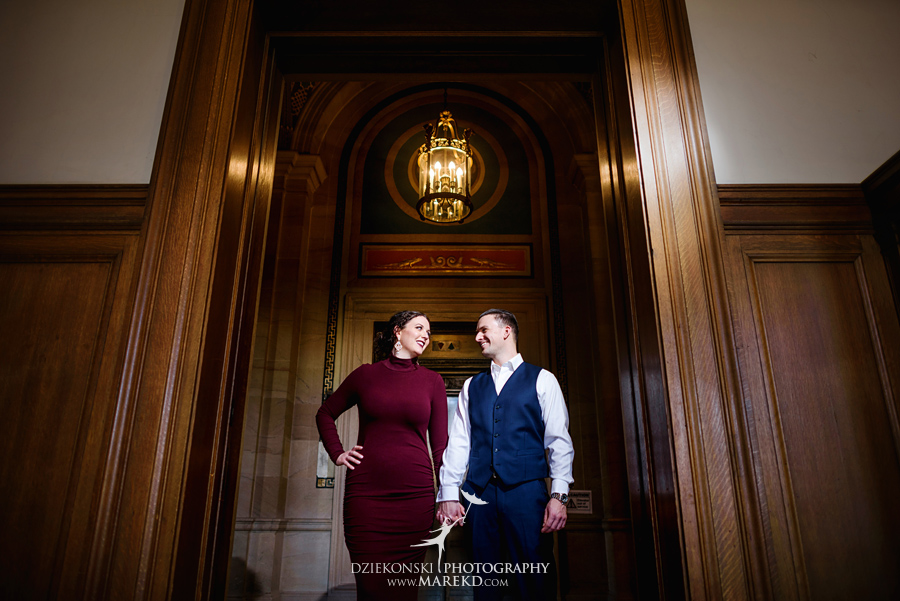 detroit public library michigan engagement session12 - Madeline and Brendan