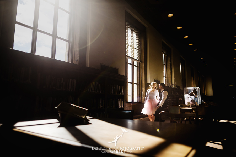detroit public library michigan engagement session15 - Madeline and Brendan