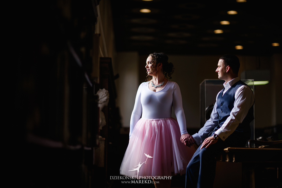 detroit public library michigan engagement session16 - Madeline and Brendan