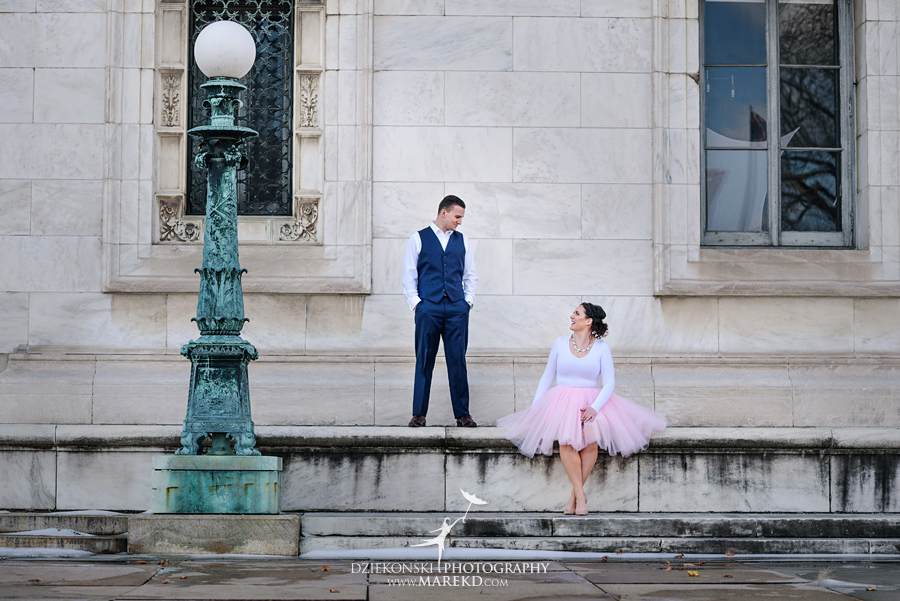 detroit public library michigan engagement session20 - Madeline and Brendan